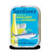 Sardines Muscadet et aromates La belle iloise par 5 boites
